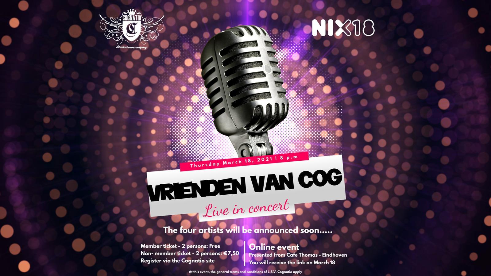 Vrienden van Cog: Live in concert!