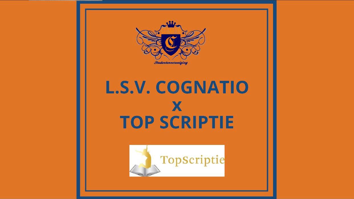 Top scriptie X L.S.V. Cognatio